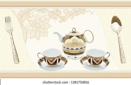 Beauty decor tile textura marble - Shutterstock ID 1381750856