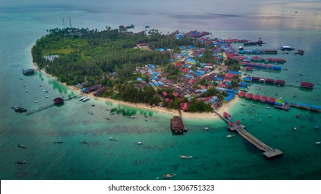 The beauty of Derawan Island, East Kalimantan - aerial photos of the drone mavic pro. Consisting of derawan island, maratua, kakaban and sangalaki. to get there need boat transportation