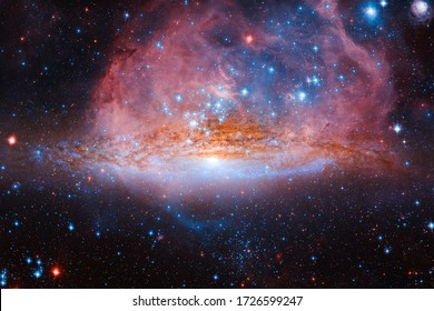 Beauty of endless cosmos. Science fiction wallpaper. Elements of this image furnished by NASA