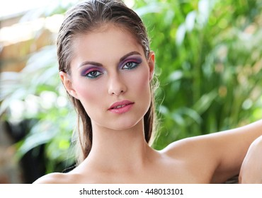 Beauty, face. Woman with beautiful skin