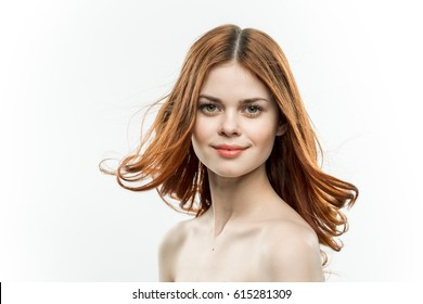 beauty face woman Fly hair