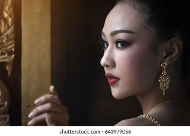 Beauty fantasy Thai woman face.