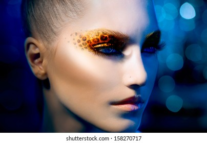 Gold Blue Abstract Paint Stock Photos Images Photography