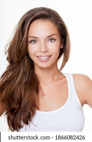 Beauty Fashion Model Woman with Long and Healthy Hair. Professional Makeup. Woman Portrait