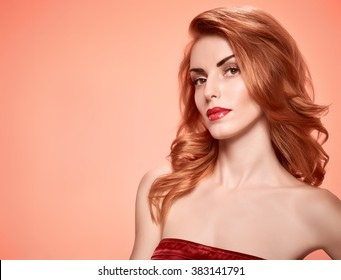 redhead woman images, stock photos & vectors | shutterstock