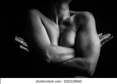 Beauty of female body. Nude art. Naked woman.