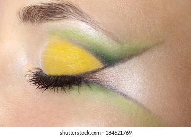 Beauty female eye Makeup. close-up