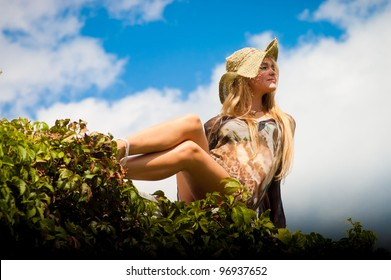 beauty female in nature