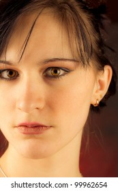 beauty female studio portrait