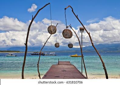 The beauty of Gili Trwangan Beach, Lombok Indonesia