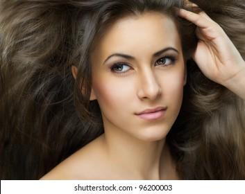 beauty girl close-up portrait