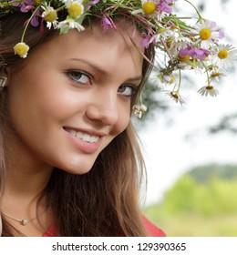 beauty girl  outdoors