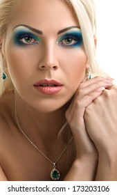 Beauty Girl. Portrait of Beautiful Young Woman looking at Camera. close-up portrait. Fresh Clean Skin