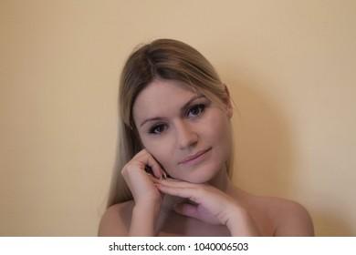 Beauty Girl Women face Portrait.
