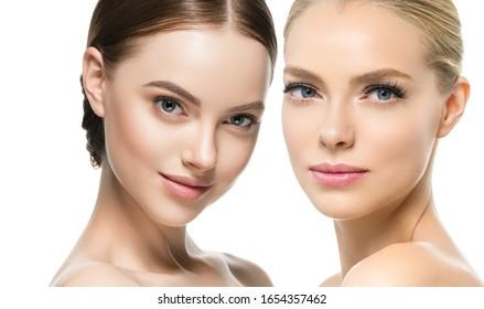 Beauty group women healthy skin care ethnic model