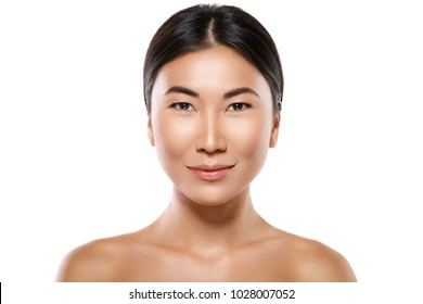 Beauty and healthcare. Portrait of young and beautiful asian woman.