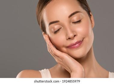 Schönheit gesunde Haut Frau Gesicht schöne weiblich