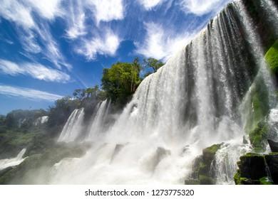 The beauty of the Iguazu Falls