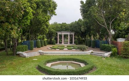 the beauty of the  Italian style garden