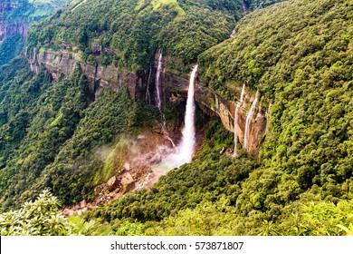 Beauty of Khasi Hills, Cherra Punji/Sohra, Nohkalikai Falls. Meghalaya