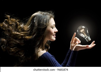 a beauty lady with a lot of idias
