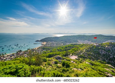 Beauty landscape of Cu Lao Xanh island Qui Nhon Vietnam