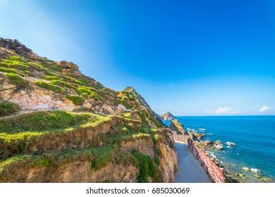 Beauty landscape of Eo Gio beach in Qui Nhon Vietnam