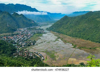 The beauty and landscape MaiChau valley, Hoa Binh province,Vietnam. This is one of the very famous place of rice agriculture, a peaceful valley, a tourist destination, explore, 150km from Hanoi.