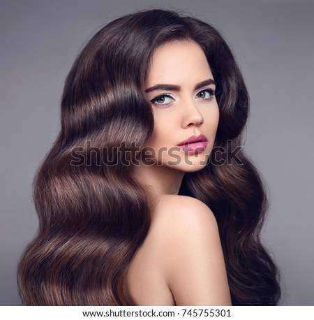 Beauty Long Wavy Hair Elegant Brunette Stock Photo Edit Now
