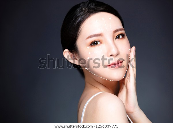 Beauty, medicine, plastic surgery and skin care concept.