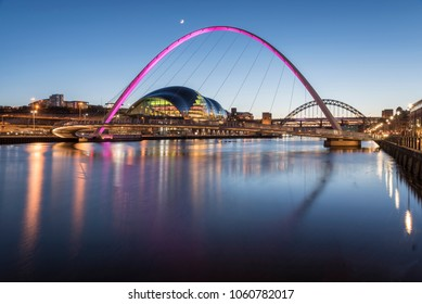 The beauty of millennium bridge in newcastle city