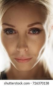 Beauty model face
