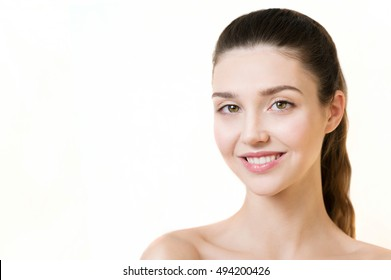 Beauty Model with  Perfect Fresh Skin. Youth and Skin Care Concept. Spa and Wellness.