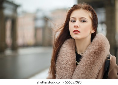 Beauty Model, Street fashion, Winter Dress