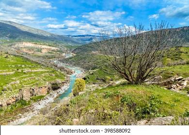 Beauty of nature  in Kurdistan region in Iraq near Erbil city