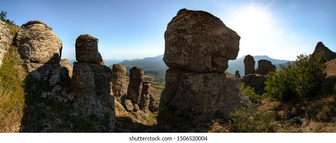 Beauty nature landscape Crimea, Mount Dimerdjy, horizontal photo