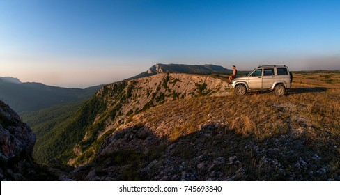 Beauty nature landscape Crimea , traveling off-road on car concept, horizontal photo