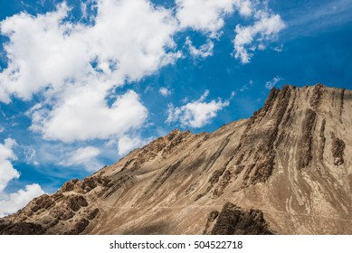 Beauty in nature, Mountain with blue sky in Leh, Ladakh, India