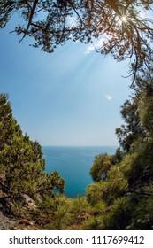 Beauty nature sea landscape Crimea ( New World, Noviy Svet, Black sea), vertical  photo