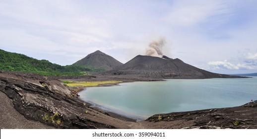 The beauty of Oceania: Tavurvur  volcano. Rabaul, New Britain Island, Papua New Guinea