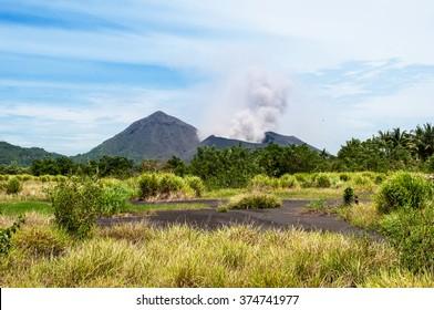The beauty of Oceania: Tavurvur volcano. Rabaul, New Britain Island, Papua New Guinea.