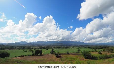 The beauty of the Pai Mountain . Pai, Mae Hong Son, Thailand