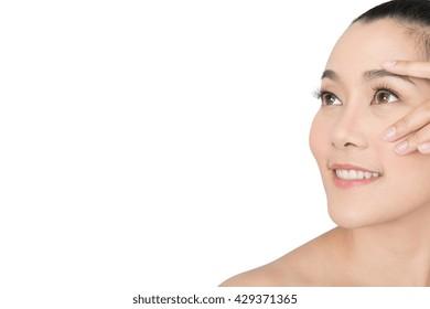 Beauty Portrait. Beautiful spa asian woman. Beautiful asian woman face and Perfect skin. keep pore details.