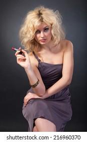 Beauty Portrait. Beautiful woman. Shot in a studio on a black background