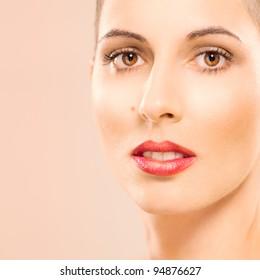 Beauty portrait of a Caucasian woman