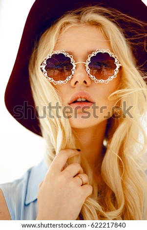 ef3f3dccca6 Beauty Portrait Cute Blonde Round Floral Stock Photo (Edit Now ...