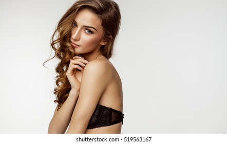 Beauty portrait of female face