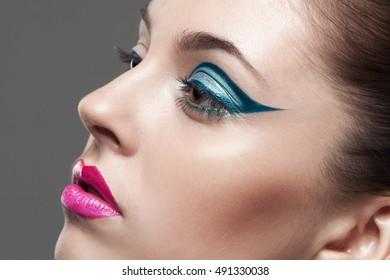 beauty portrait of a girl. makeup