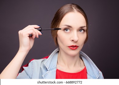 Beauty portrait of girl with make-up
