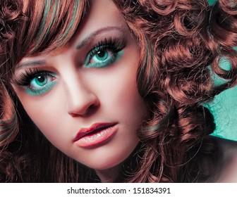 beauty portrait green eyes